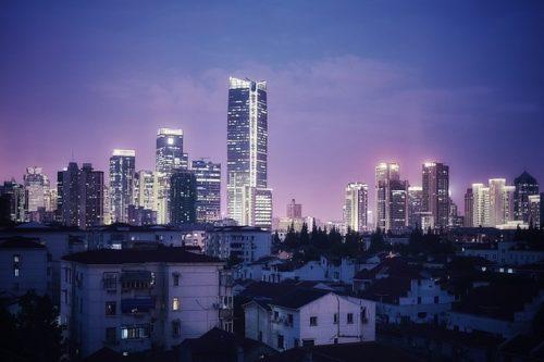上海の高層ビル群の画像