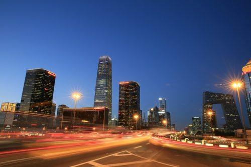 北京の双井駅近くの道