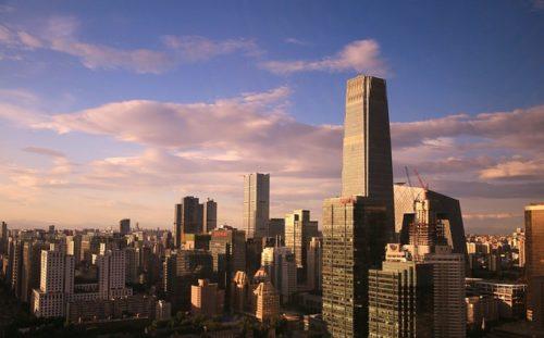 北京の双井から国貿一帯を見下ろす画像