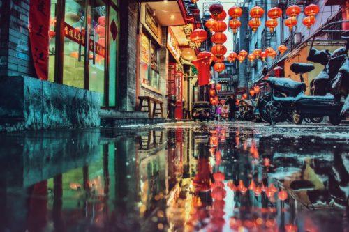 北京の伝統的な町並み