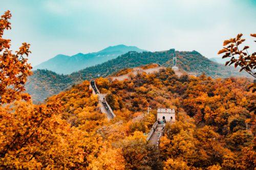 万里の長城の紅葉