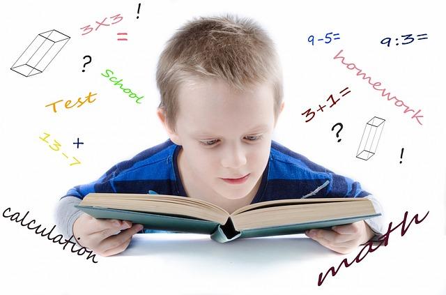 勉強をしている子どもの画像